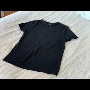Zara black Men's short sleeved sweater